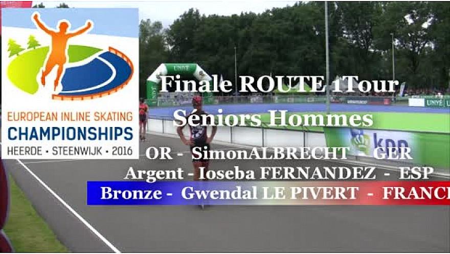 Gwendal LE PIVERT Médaillé BRONZE  Roller Route 1 Tour Séniors Hommes à Heerde - Pays-Bas @FFRollerSports #TvLocale_fr