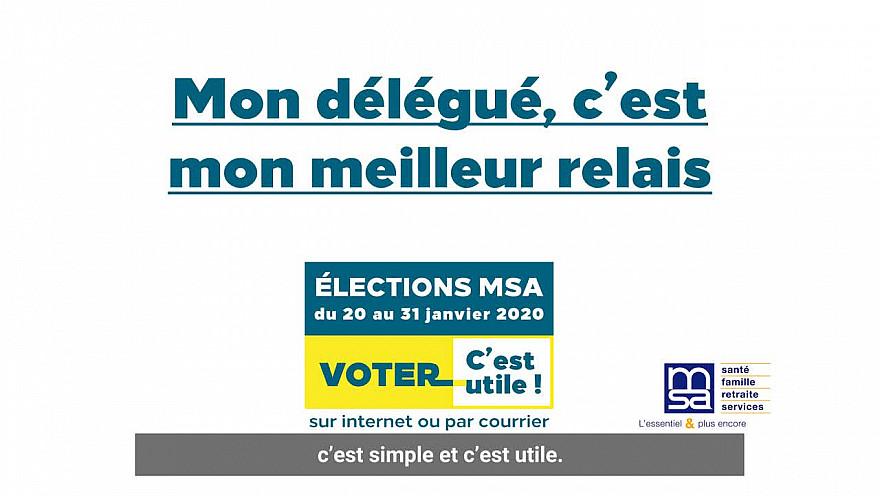 Voter pour votre délégué MSA, c'est utile !